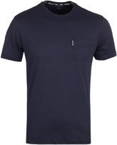Aquascutum Navy Brady Crew Neck T-shirt