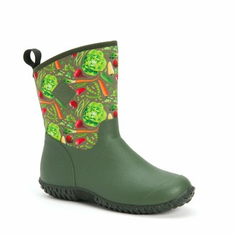Muck Boot Muckster ll Mid-Height Womens Rubber Garden Boots- Black/Night Floral Print (WM2-001) 11