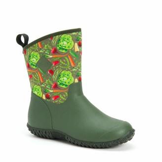 Muck Boot Muckster ll Mid-Height Womens Rubber Garden Boots- Green/Veggie Print (WM2-302)
