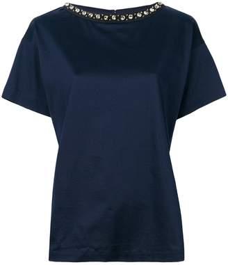 Moncler boxy embellished neck T-shirt