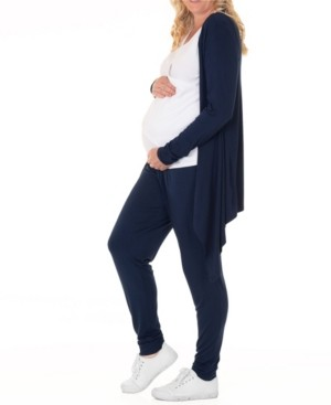 Blooming Women by Angel Blooming Women Maternity Cardigan Nursing Top & Pant 3pc Set, Online Only