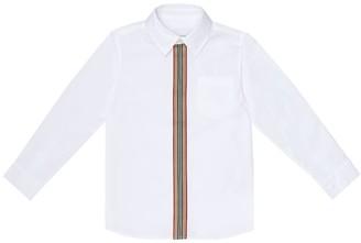BURBERRY KIDS Mini Silverton stretch-cotton shirt
