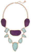 Vince Camuto Rose Gold-Tone Purple and Blue Stone Statement Necklace
