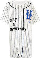 Ashish oversized sequin embellished baseball shirt dress