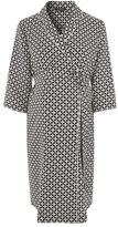 Topshop Maternity geometric tile print wrap dress