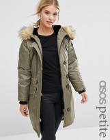 Asos Luxe Parka With MA1 Detail
