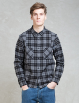 Whiz Black L/S Check Patch Shirt