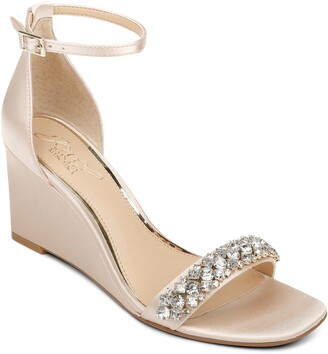 Badgley Mischka Peggy Ankle Strap Wedge Sandal