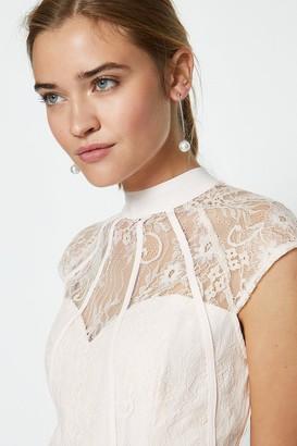 Coast Seamed Lace Bodice Maxi Dress