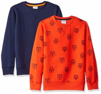 Spotted Zebra Amazon Brand Little Boys' 2-Pack Crew Sweatshirts