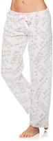 Sleep & Co Women's Sleep Bottoms LGRY - Light Gray Tie-Waist Pajama Pants - Juniors