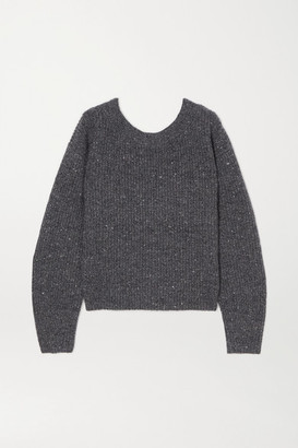 Altuzarra Beverly Ribbed Wool And Cashmere-blend Sweater - Charcoal