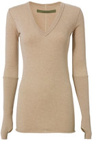 Enza Costa V Neck with Thumbholes