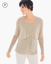 Chico's Tiered Metallic Top