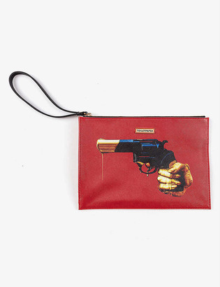 Seletti Toiletpaper Loves Revolver pouch bag