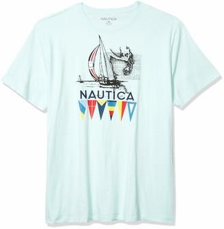Nautica Men's Big & Tall Short Sleeve Crew-Neck Graphic Tee