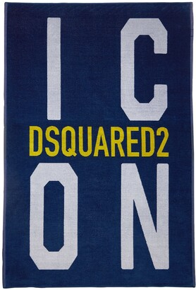 DSQUARED2 Icon Print Terrycloth Beach Towel
