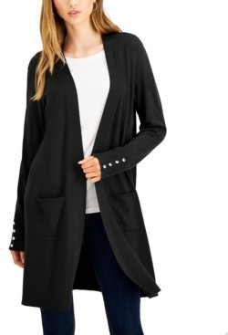 Willow Drive Button-Sleeve Duster Cardigan