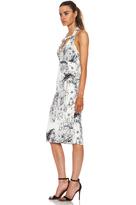 Cushnie et Ochs Scribble Print Viscose-Blend Dress