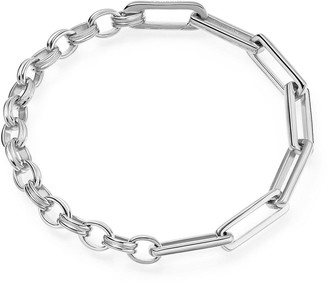 Missoma Limited Silver Deconstructed Axiom Chain Bracelet