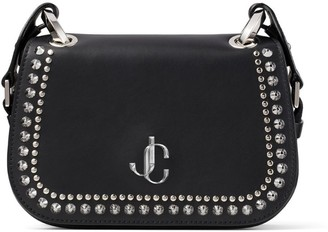 Jimmy Choo Small Leather Stud-Embellished Varenne Cross-Body Bag