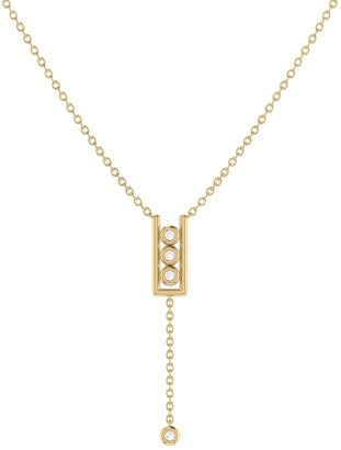 Lmj Traffic Light Lariat Necklace In 14 Kt Yellow Gold Vermeil On Sterling Silver