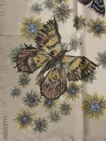 Valentino Butterfly And Floral Print Scarf