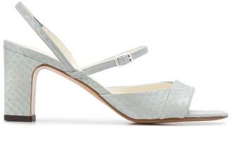Michel Vivien Eem 75mm snakeskin-effect sandals