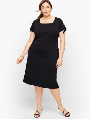 Talbots Knit Jersey Tie Sleeve Dress