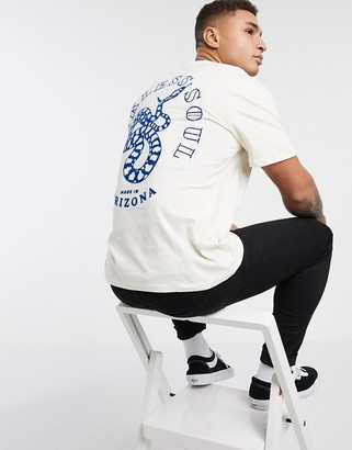 Topman t-shirt with snake back print in stone