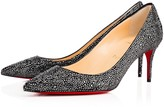Christian Louboutin Decollete 554 Strass 70 Version Anthracite Strass - Women Shoes