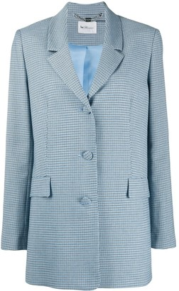 Be Blumarine Checkered Two-Button Blazer