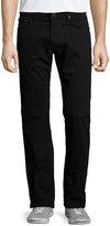 J Brand Darr Straight-Leg Jeans, Black