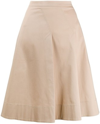Piazza Sempione poplin A-line skirt