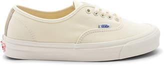 Vans OG Authentic LX in Classic White & Safari | FWRD