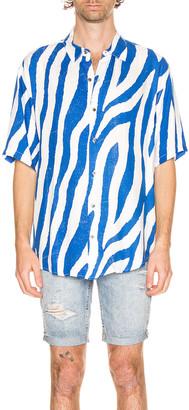 Ksubi Animal Short Sleeve Shirt in Blue | FWRD