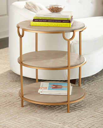 REGINA ANDREW Vogue Shagreen Side Table