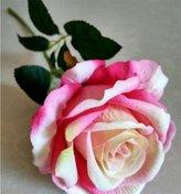 GJX Silk Flower Arrangement,6pcs Artificial Rose Flowers Bouquet Garden Office...