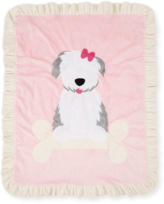 Boogie Baby Puppy Love Plush Baby Blanket, Pink