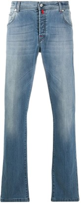 Kiton Washed Bootcut Jeans