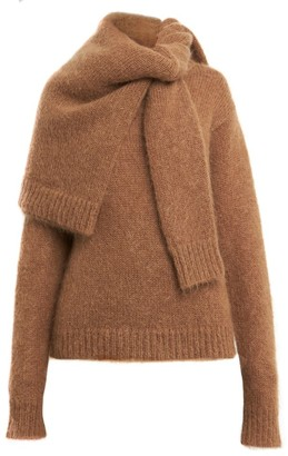 Rokh Double Shoulder-Wrap Sweater