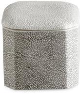 Kassatex Shagreen Porcelain Cotton Jar