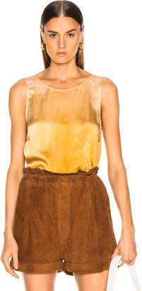 Raquel Allegra Low Back Tank in Golden Sun Tie Dye | FWRD