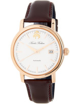 Brooks Brothers Men&s Core Collection Round Analog Leather Strap Watch