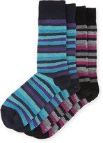 J.M. Dickens Two-Pair Striped Socks