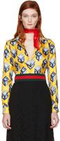 Gucci - Chemise en soie jaune 'Gucci