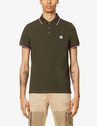 Moncler Logo-embroidered cotton polo shirt