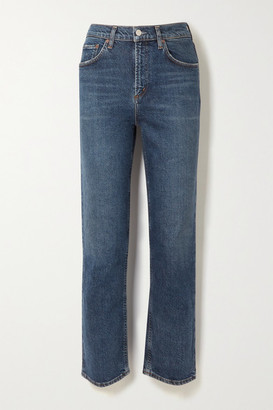 AGOLDE Wilder Mid-rise Straight-leg Jeans - Dark denim