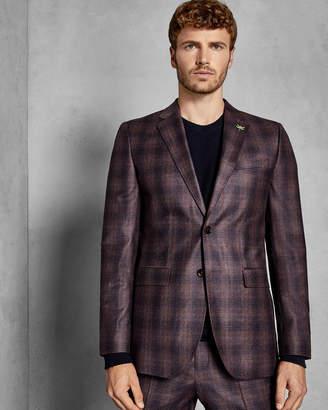 Ted Baker SAKHAJ Global check slim suit jacket