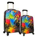 Traveler's Choice Travelers choice Paint Splatter 2-Piece Hardside Spinner Luggage Set
